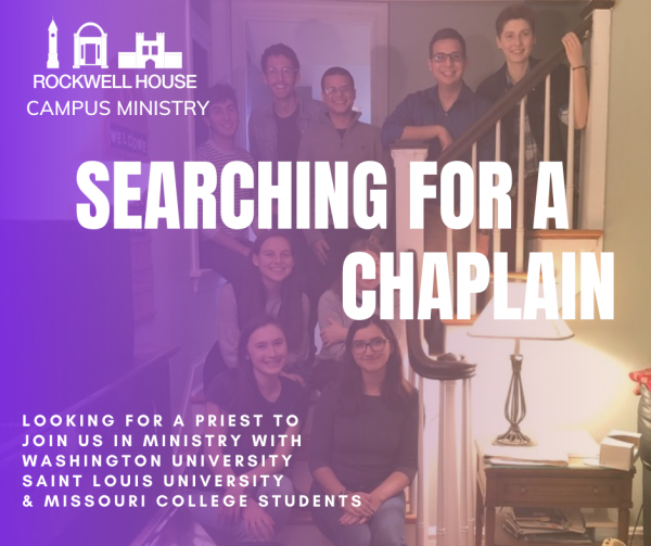 Now Hiring: Chaplain for Rockwell House Campus Ministry